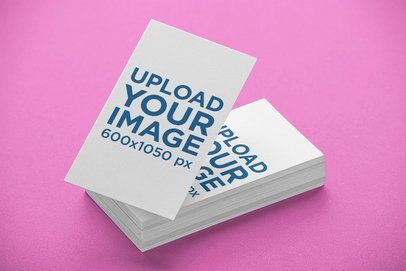 Business Card Template of Stacked Cards 21945