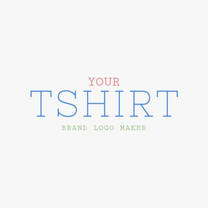 Logo Design Template for T-Shirt Brand 1317d -