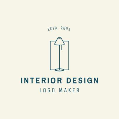 Minimalist Interior Design Logo Template 1325e
