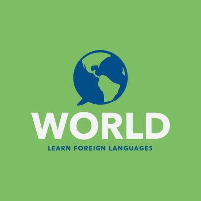 Logo Design Maker for Foreign Language Center 1302d