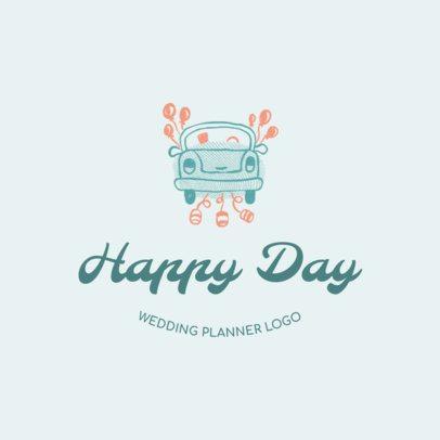 Happy Wedding Planner Logo Design Maker 1274e