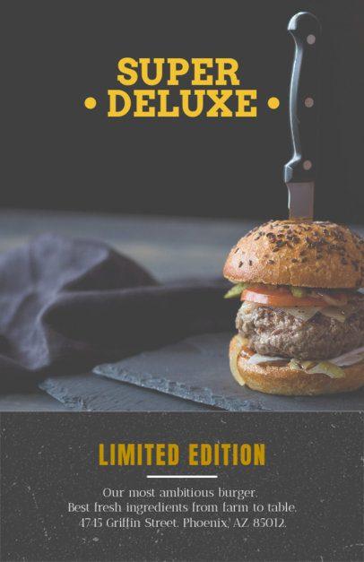 Online Flyer Maker for Gourmet Burger Restaurants 416a