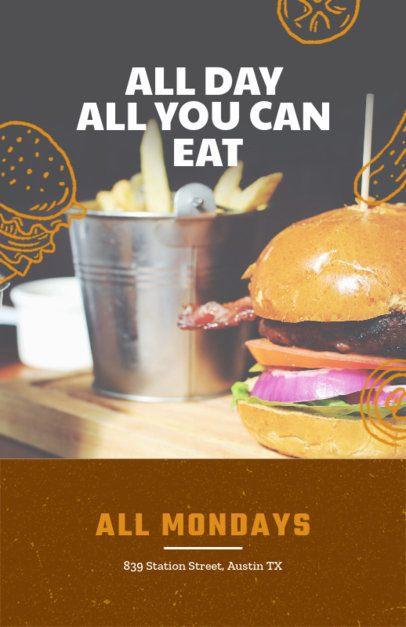 Online Flyer Maker for BBQ Grills 416b