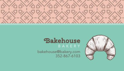 Croissant Bakery Business Card Template 493a
