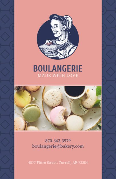 Bakery Flyer Maker with Macarons 494c