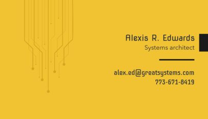 Business Card Maker for Systems Architect 513e