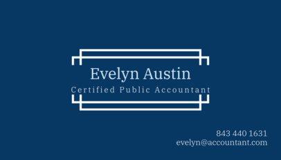 Public Accountant Business Card Template 259b