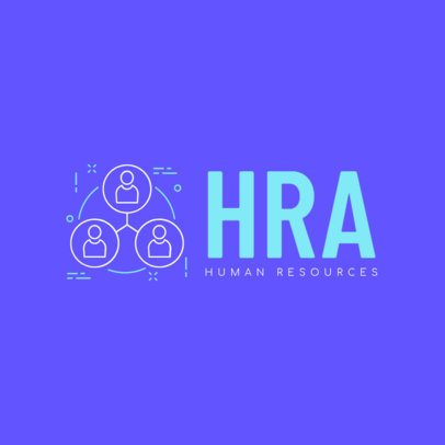 Bright Human Resources Business Logo Template 1285b