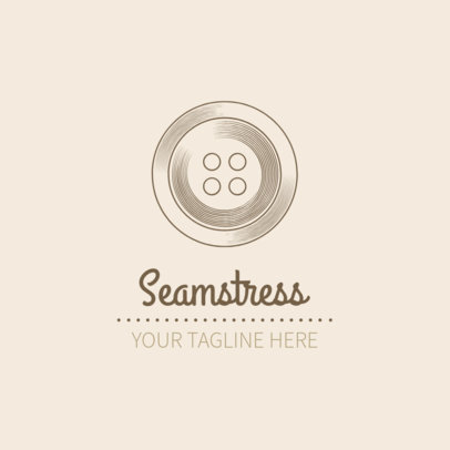 Seamstress Logo Design Template 1331e