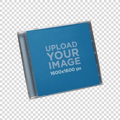 CD Album Cover Mockup on a Transparent Background 22265