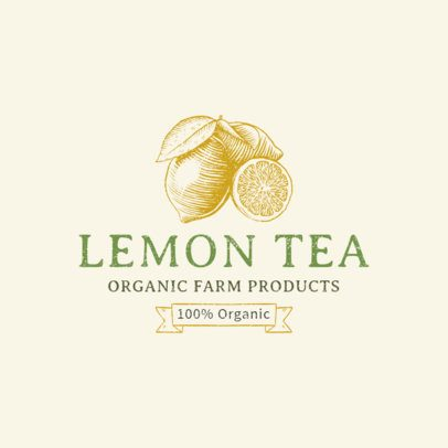 Organic Tea Logo Maker with Fruit Icons 1378c
