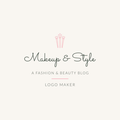 Fashion Logo Maker for Fashion and Beauty Blog 1408c