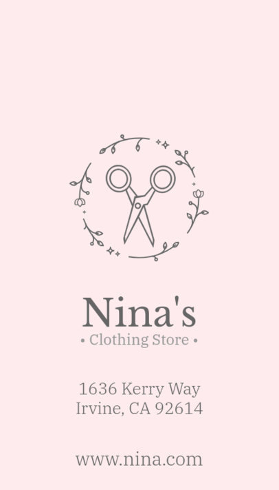 Pretty Business Card Maker for Clothing Boutique 143d