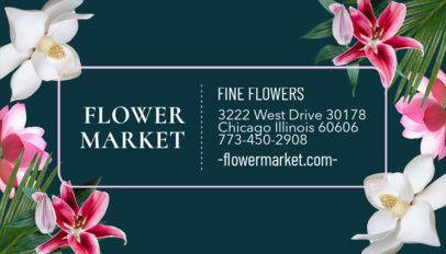 Flower Market Business Card Template 565b
