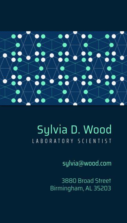 Scientist Business Card 571e