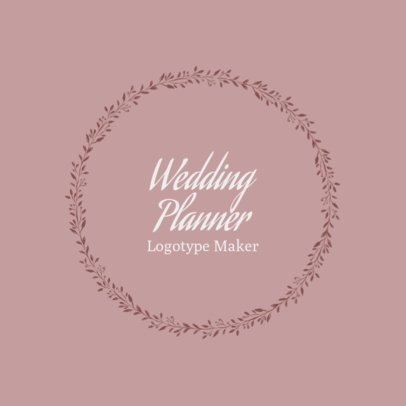 Wedding Services Logo Maker with Calligraphy Font 1379b