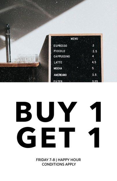 BOGO Coffee Promo Flyer Template 506c