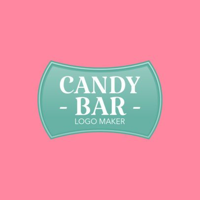 Retro Candy Bar Logo Maker 1390b