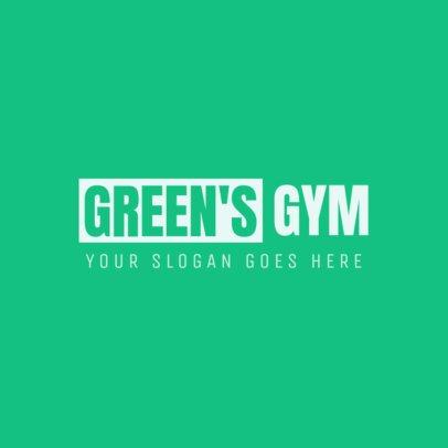 Minimalist Gym Logo Creator 1358b