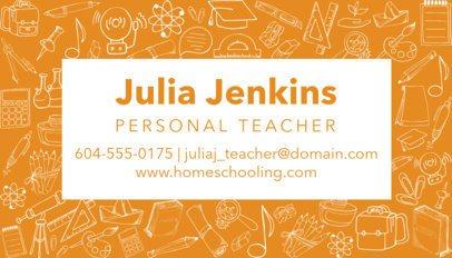 Business Card Generator for Teachers 575