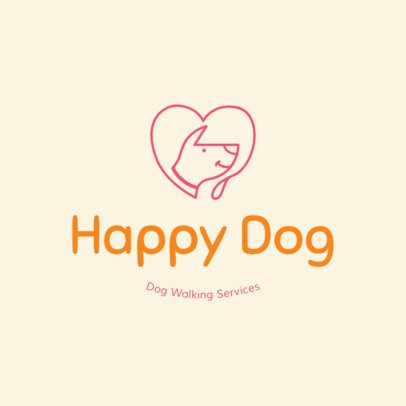Colorful Pet Walker Logo Creator 1434d