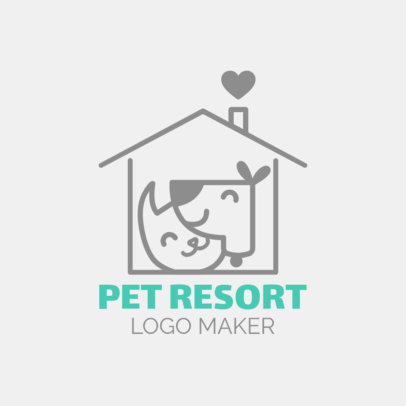 Online Logo Maker for Pet Resorts 1433e