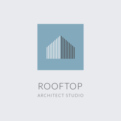 Architecture Studio Logo Creator with an Abstract Icon 1420b