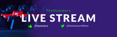 Live Stream Gaming Banner Maker for Twitch 599e