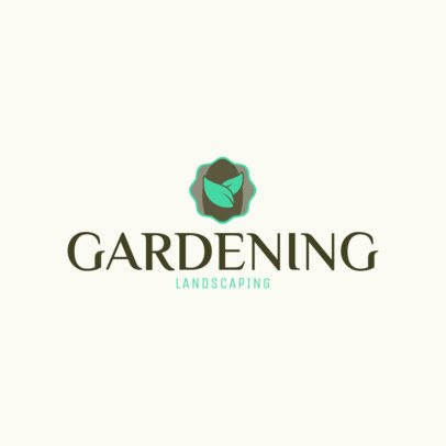 Online Logo Maker for a Landscaping Business 1422d