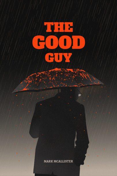 Book Cover Template for Crime Thriller Novel 519c