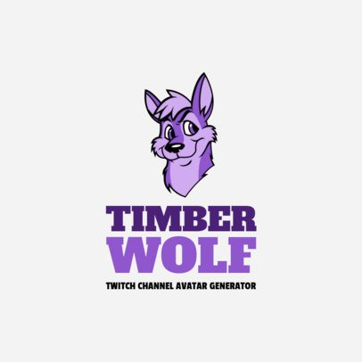 Twitch Channel Logo Generator with a Wolf Illustration 1323c