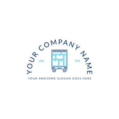 International Moving Company Logo Maker 1388