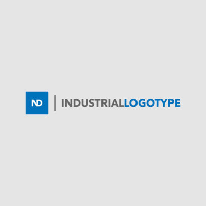 Simple Industrial Logo Maker 1416