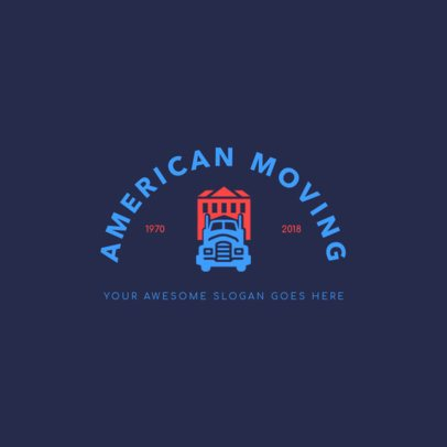 Moving Truck Company Logo Creator 1388a