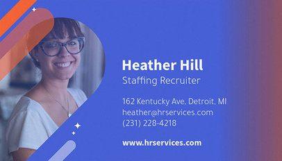 Recruitment Company Business Card Maker 642