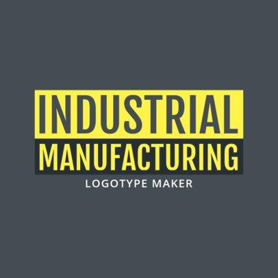 Industrial Manufacturing Business Logo Creator 1418b