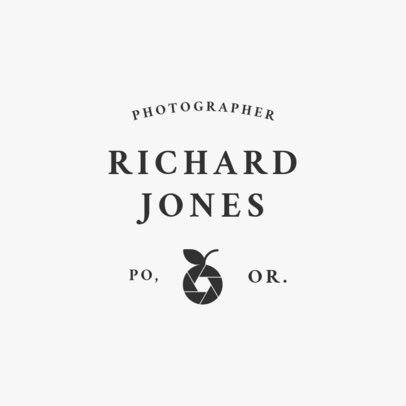 Logo Design Template for Photographer 1443e