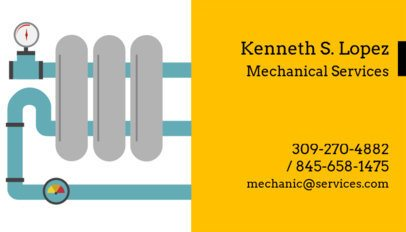 Plumbing and Mechanical Services Business Card Creator 660c
