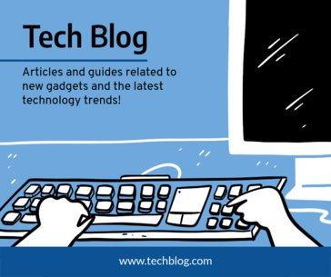 Tech Blog Post Maker for Facebook 653c