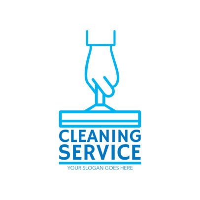 Cleaning Service Logo Template With Simple Graphics 1451