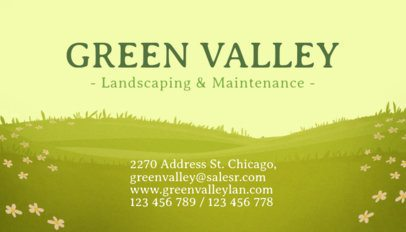 Lansdscaping and Maintenance Business Card Template 656d