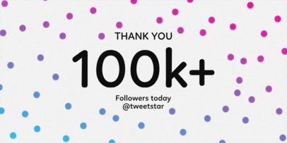 Twitter Post Template for a Followers Milestone Celebration 625b