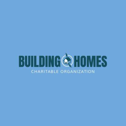 Building Homes Logo Design Maker 1455c