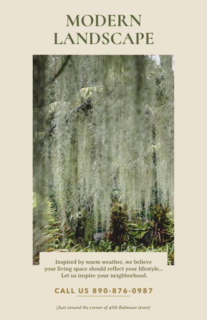 Modern Landscape Flyer Design Template 698