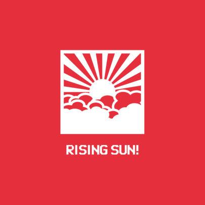 Japanese Rising Sun Phone Grip Design Maker 687c