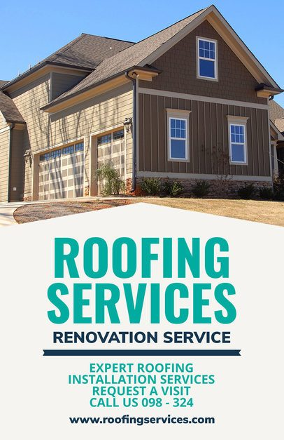 Flyer Maker for a Roofing Company 708