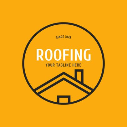 Roofing Logo Template for a Residental Roofing Company 1484d