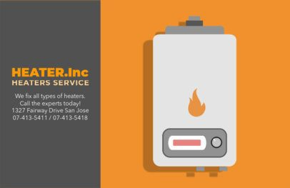Premium Heating Repair Horizontal Flyer Maker 740e
