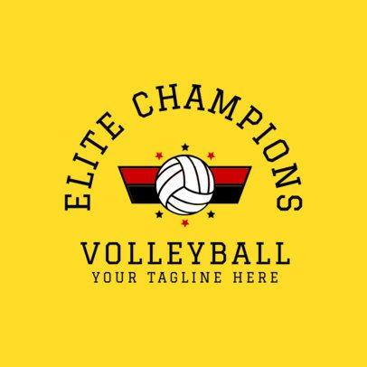 Volleyball Logo Creator 1510b