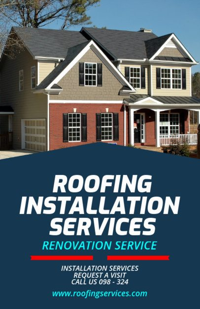 Roofing Installation Services Flyer Maker 708a
